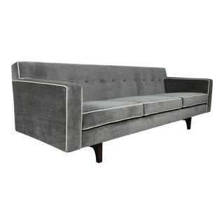 Dunbar Gray Mohair Sofa