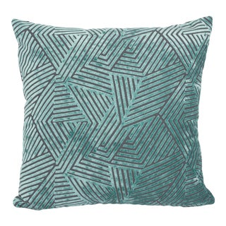 "Piper Collection Turquoise Velvet ""Olivia"" Pillow"