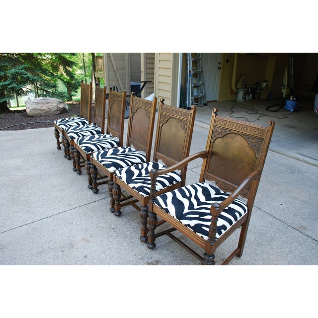 Oak Dining Room Chairs - Set of 6 - Image 2 of 11