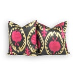 Image of Silk Ikat Pillows in Tribal Design - A Pair