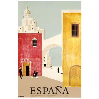 Mid-Century Spain Travel Poster