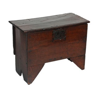English Oak Small Dowry Trunk