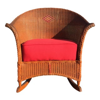 1920-30s Lloyd Loom Rocking Chair