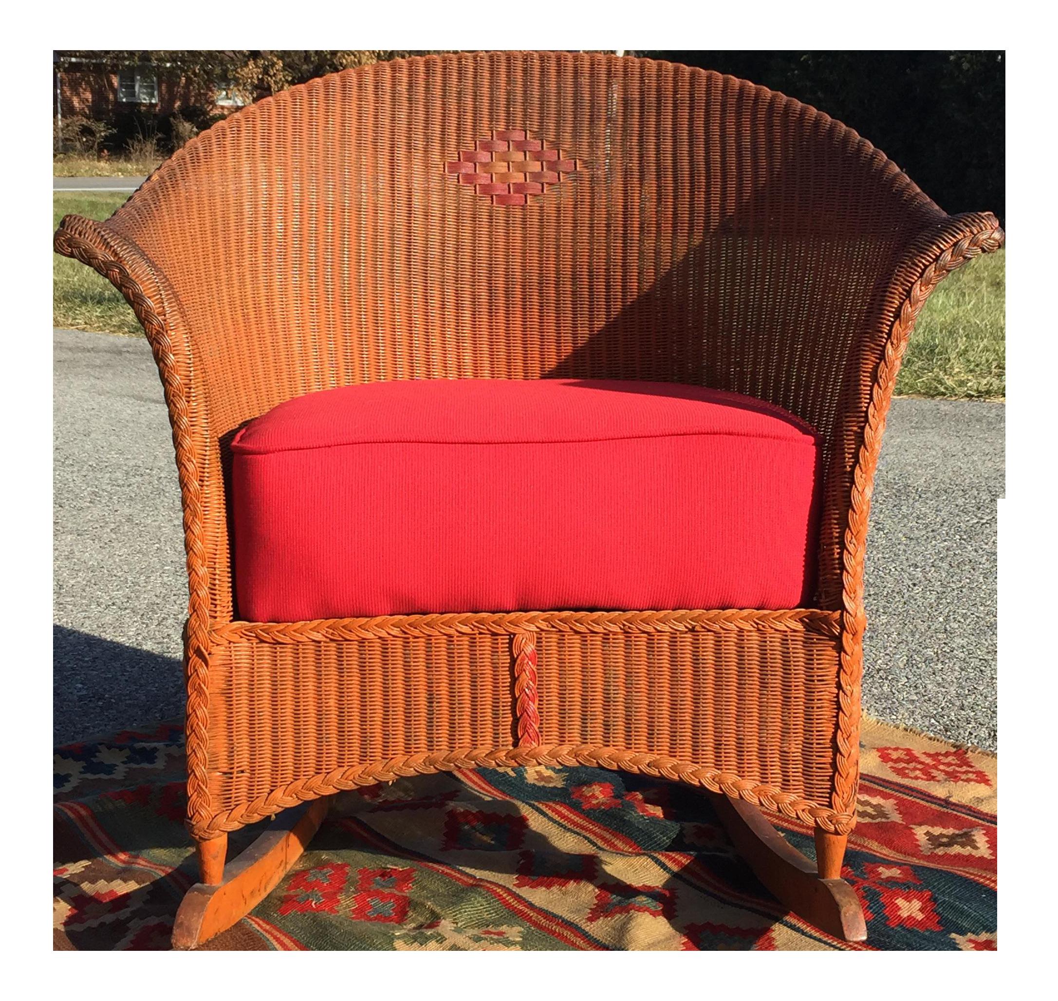 1920 30s Lloyd Loom Rocking Chair