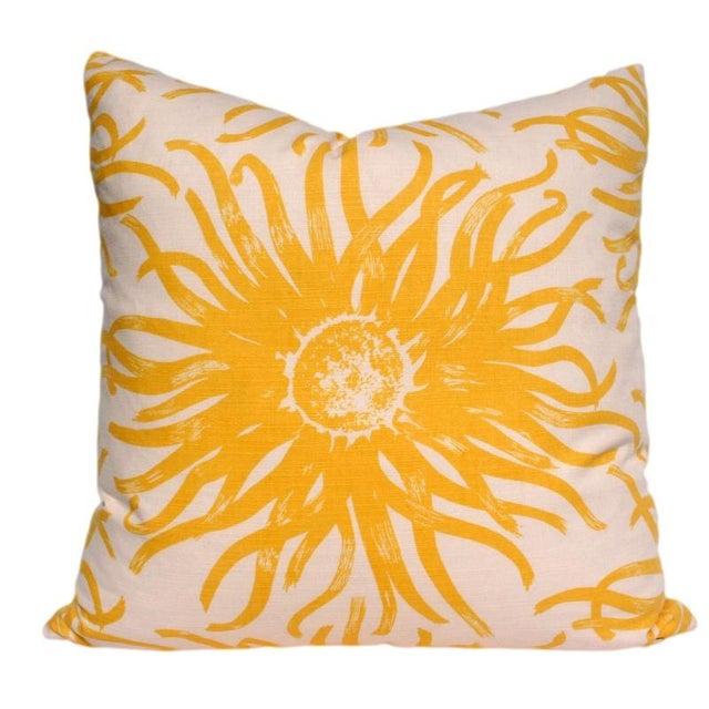 Modern Yellow Flower Pillow Chairish