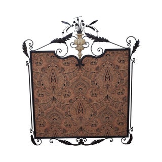 William Switzer Louis XVI Hand Forged Iron Framed Textile