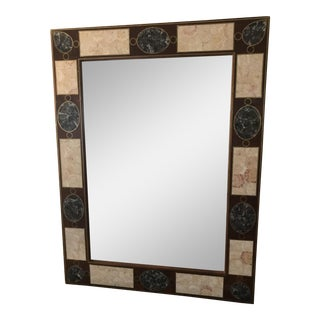 Maitland-Smith Marble & Wood Mirror