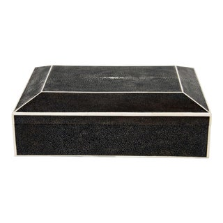 Large Exotic Shagreen Box with Bone Inlay