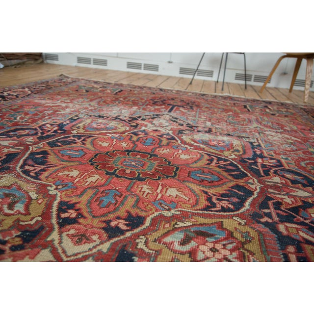 "Distressed Ahar Heriz Carpet - 8'2"" X 11'9"" - Image 9 of 10"