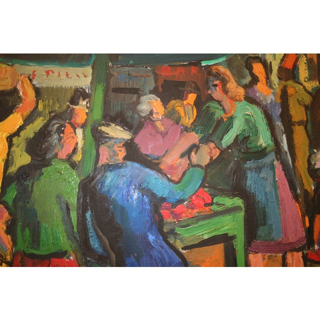 French Expressionist Oil by Pierre Ambrogiani - Image 5 of 7