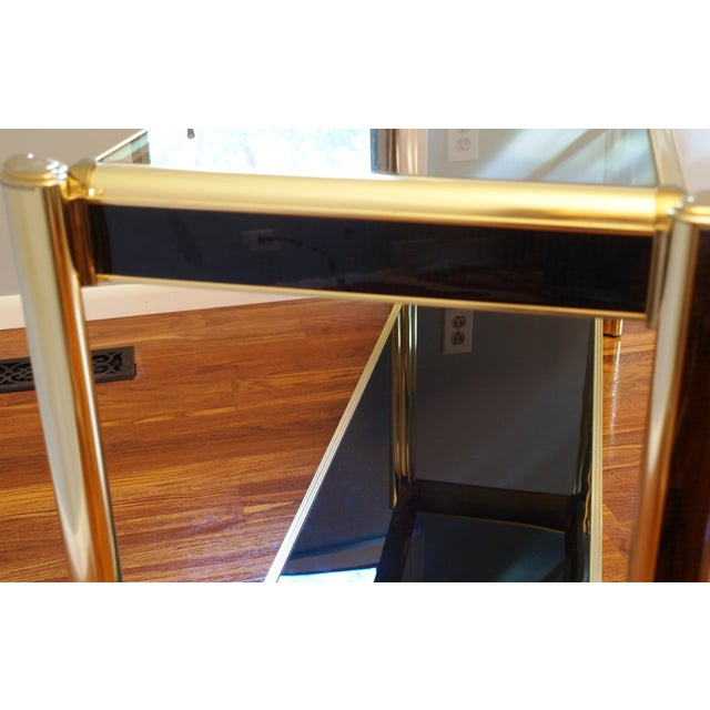 Black Sequin Wrapped Gold Console Table - Image 7 of 9