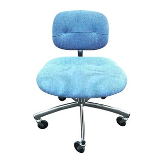 Steelcase Modern Blue Swivel Office Chair