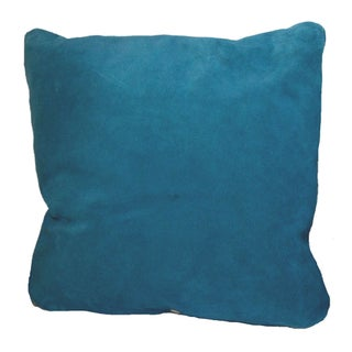 Suede Blue Throw Pillows in - Set of 3