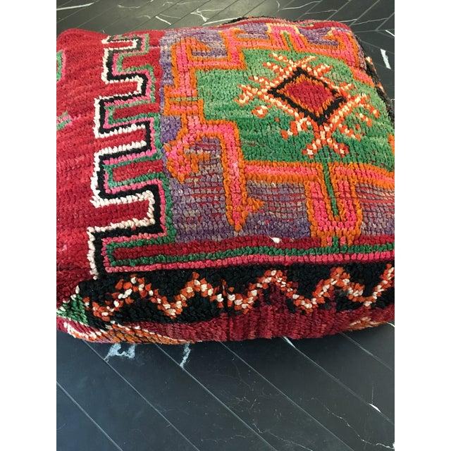 Moroccan Rug Floor Pouf - Image 3 of 5