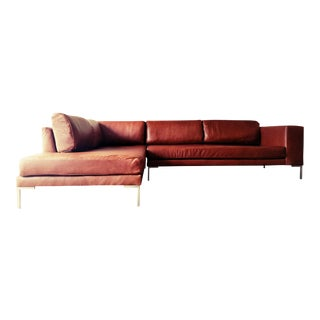Gambrell Renard Leather Sofa Chaise Sectional. Vintage   Used Sofas   Chairish
