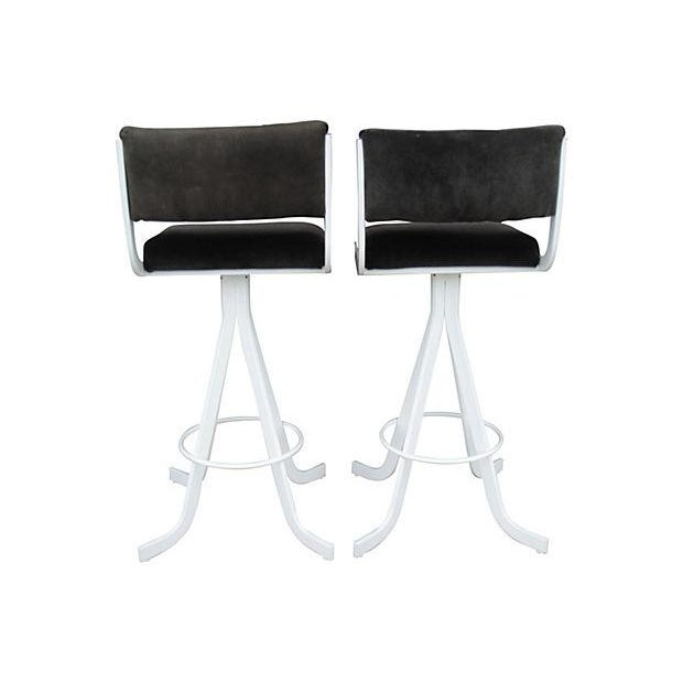 Image of Mid-Century Bar Stools - A Pair