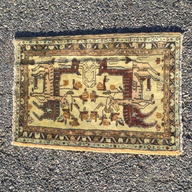"Vintage Liliahan Persian Rug - 1'10"" X 2'9"" - Image 2 of 7"