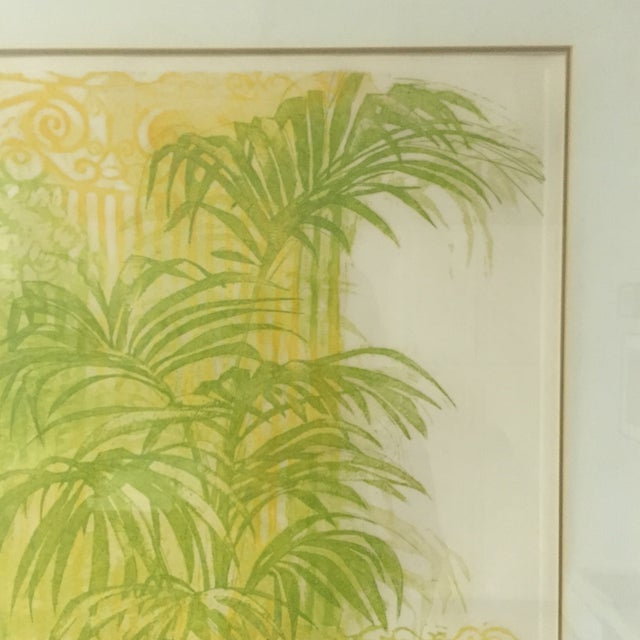 """Floridian Gates"" Framed Intaglio Etching - Image 7 of 10"