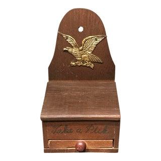 Wooden Eagle Motif Tooth Pick Holder
