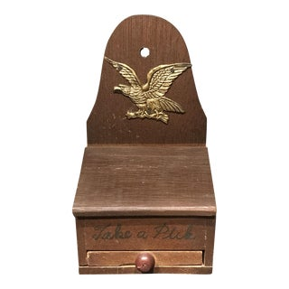 Wooden Eagle Motif Tooth Pick Holder