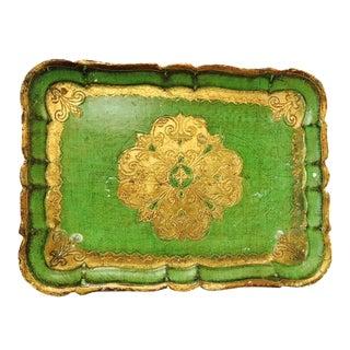 Italian Florentine Green Tray