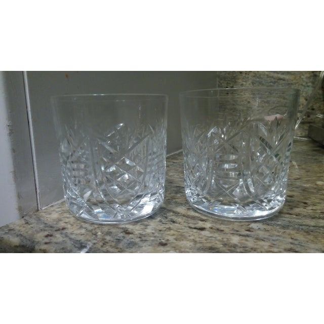 Image of Vintage Etched Rocks Glasses - Set of 4