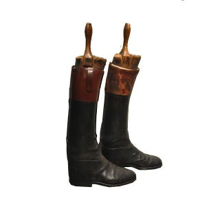 Antique Pair of English Riding Boots