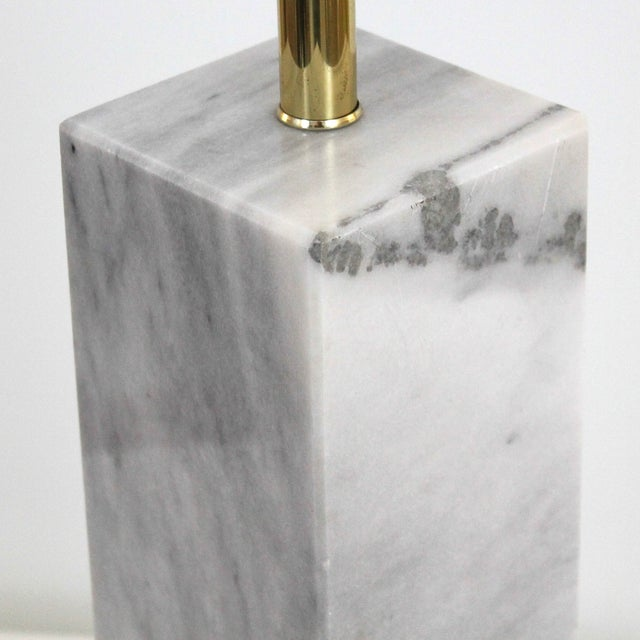 Image of Mid-Century Modern Carrera Marble Lamp