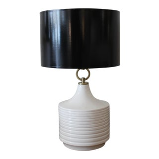 Accordion Table Lamp with Black Parchment Shade