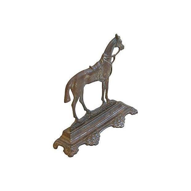 Image of 1930s Cast Iron Horse Doorstop Figure