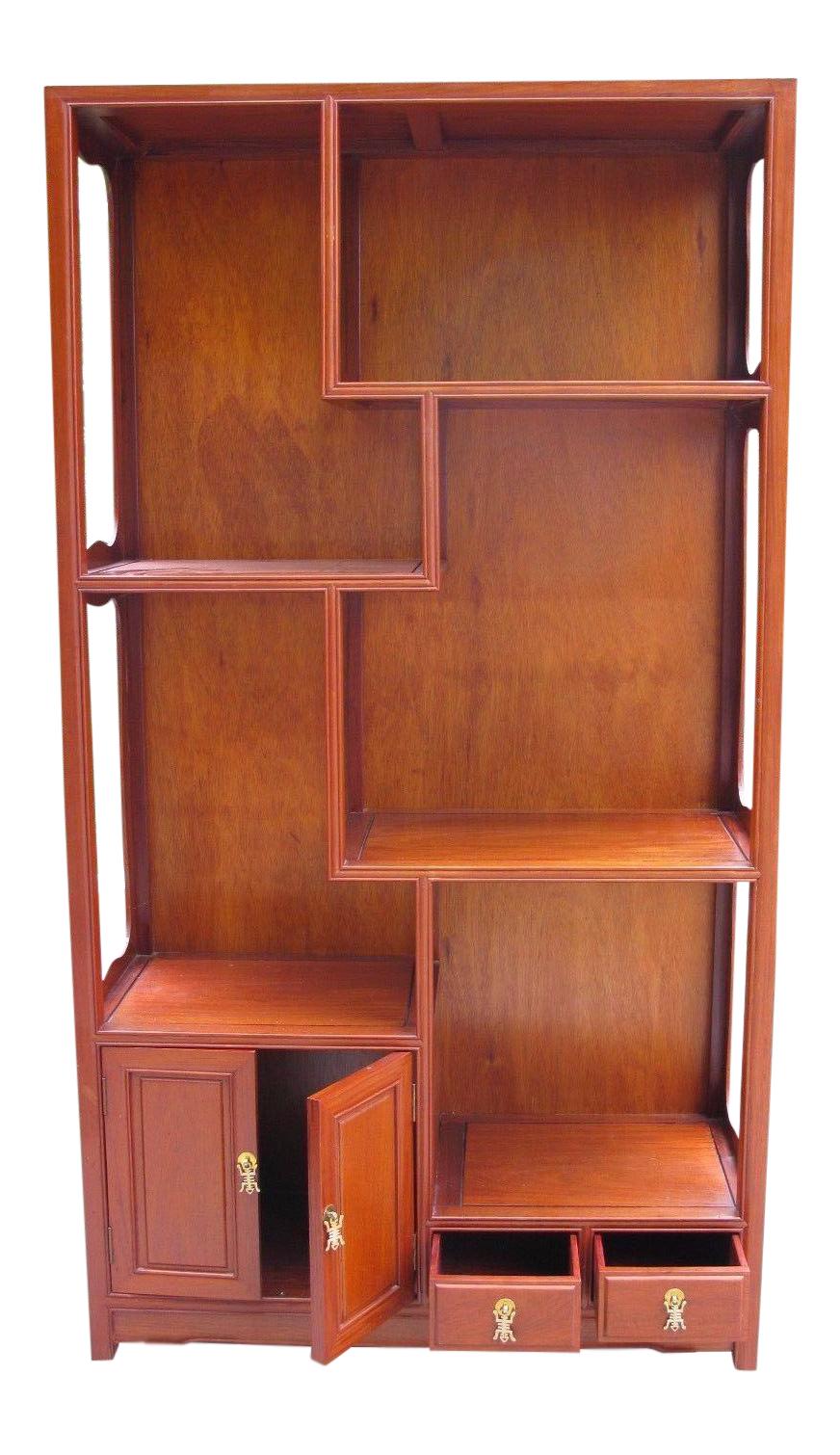 midcentury bespoke rosewood bookcase