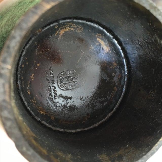 Israeli Mid-Century Metal Compote - Image 7 of 7