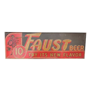 1950's Faust Beer sign