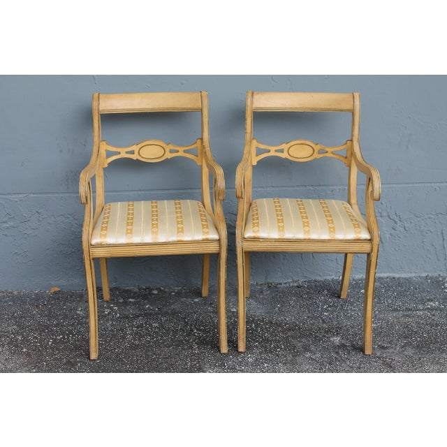 Mid-Century Traditional Style Armchairs- A Pair | Chairish