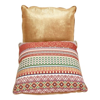 Light Orange Stripes Pillow