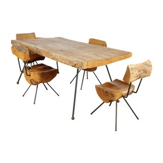 Sabino Wood Dining Table and Chairs