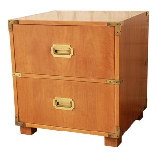 Baker Furniture Campaign-Style Nightstand