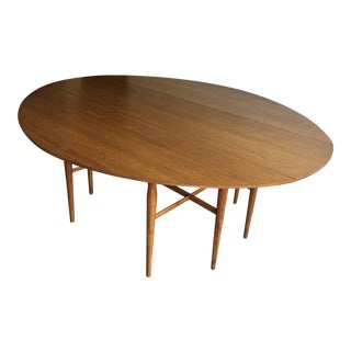 Drexel Mid-Century Drop Leaf Harvest Dining Table