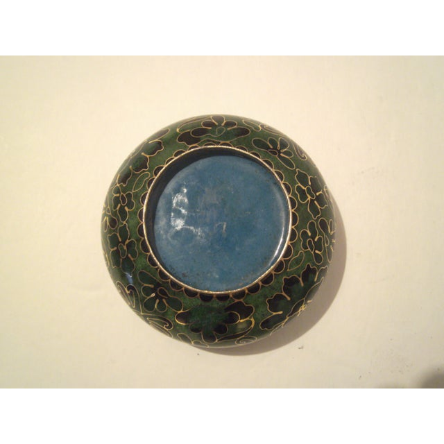 Emerald Green Cloisonne Footed Bowl - Image 6 of 8