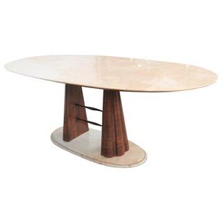 Borsani Style Modern Marble Top Dining Table