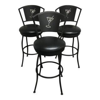 Martini Swivel Barstools - Set of 3