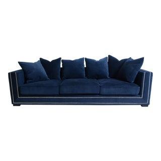 Pasargad Navy Velvet Cooper Sofa