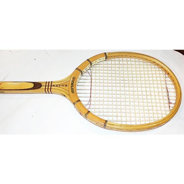 Dunlop Vintage 1960s Wooden Tennis Raquet - Image 4 of 5