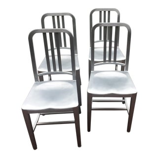 Vintage Emeco Navy Dining Chairs - Set of 4