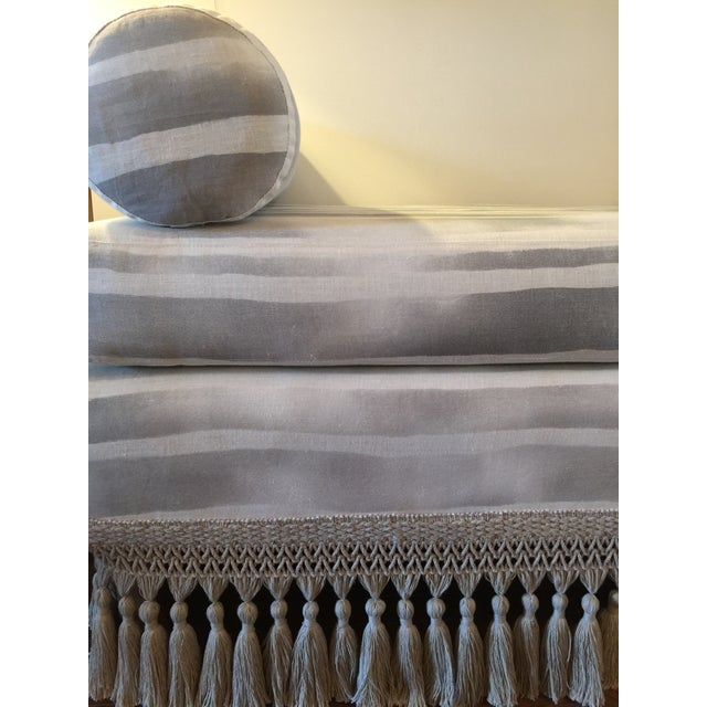 Custom Indigo & White Striped Daybed - Image 3 of 8