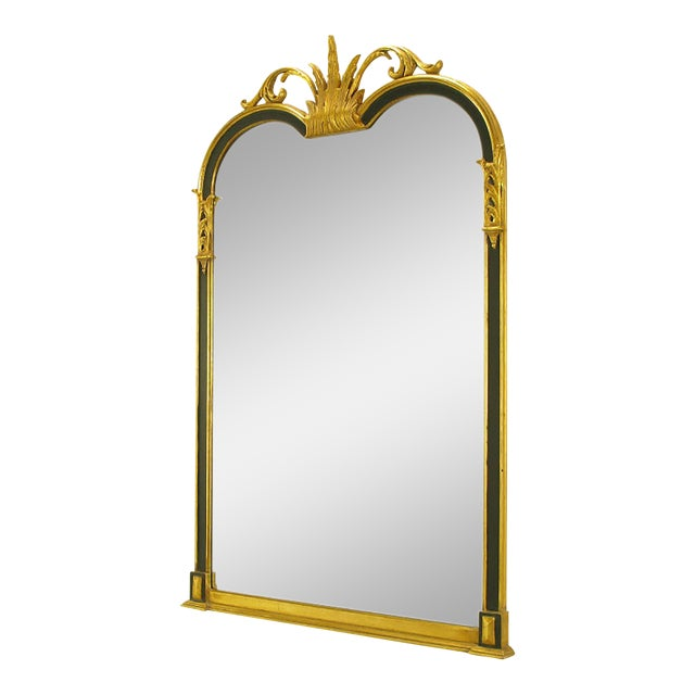Empire Revival Parcel-Gilt and Black Lacquer Wall Mirror - Image 1 of 7
