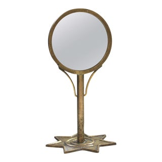 Art Deco Brass Vanity Mirror