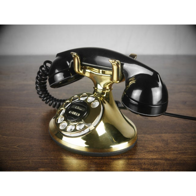 1930s Art Deco Brass Telephone - Image 3 of 4