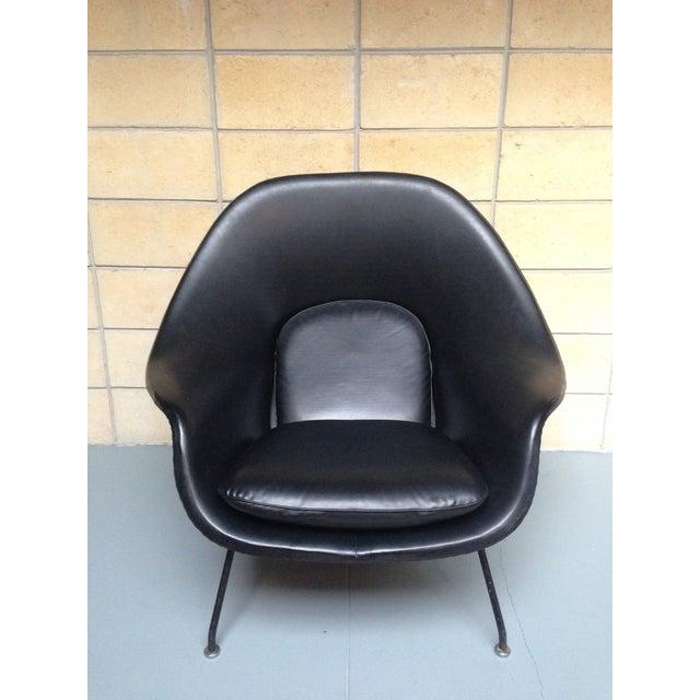 Image of Eero Saarinen for Knoll Vintage Black Womb Chair