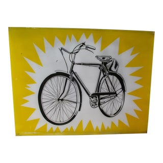 Lichtenstein Style Bicycle Shop Sign
